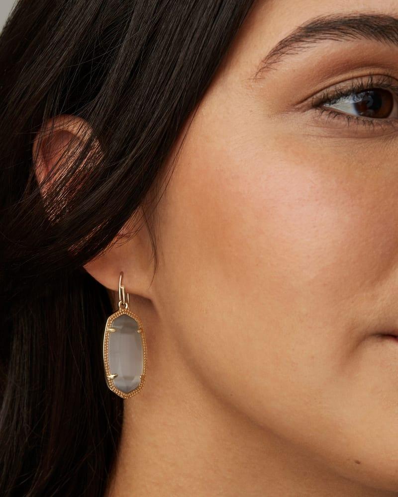 Dani Silver Drop Earrings in Ivory Pearl