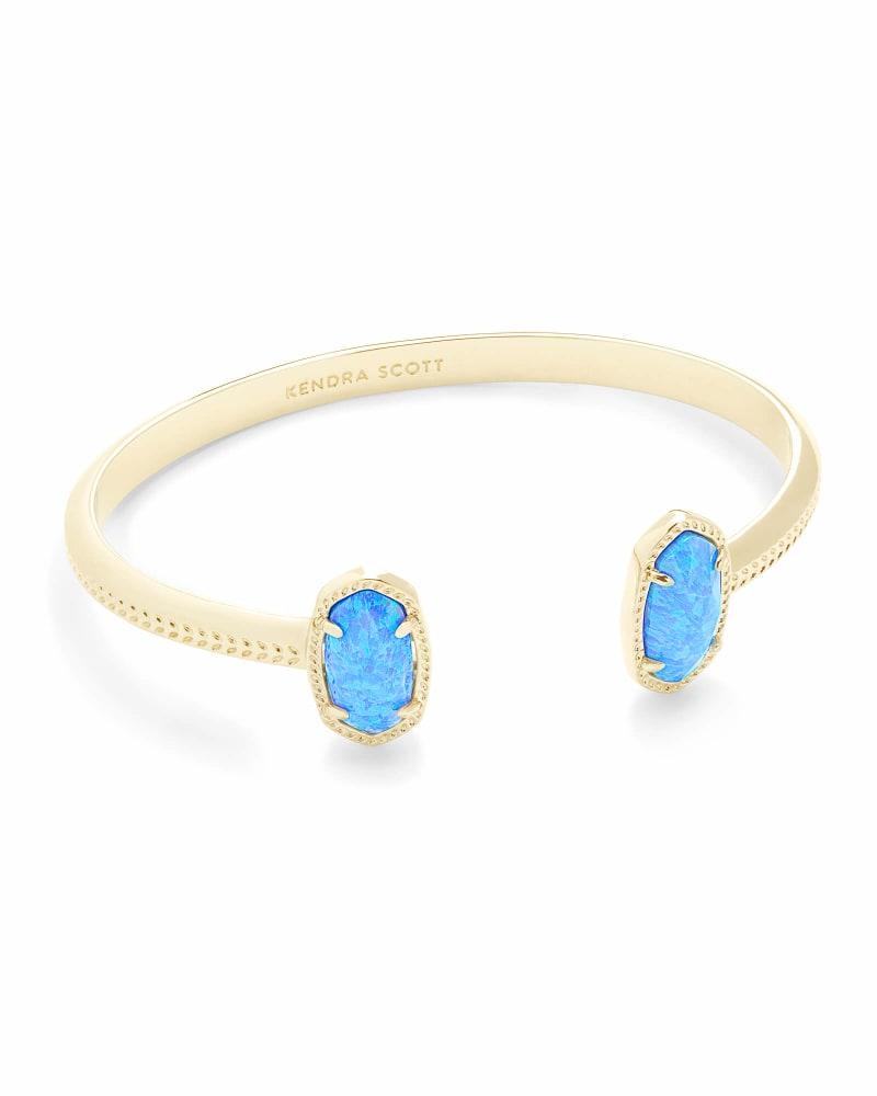 Elton Gold Cuff Bracelet in Ocean Kyocera Opal