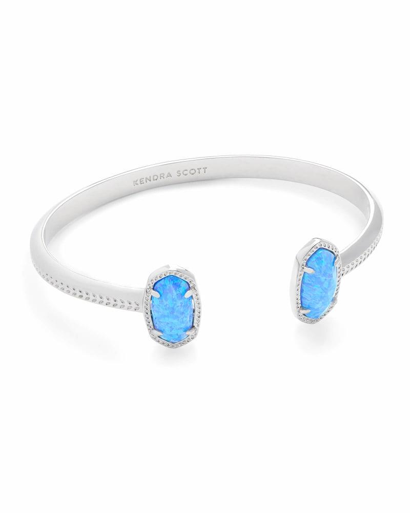 Elton Silver Cuff Bracelet Ocean Kyocera Opal