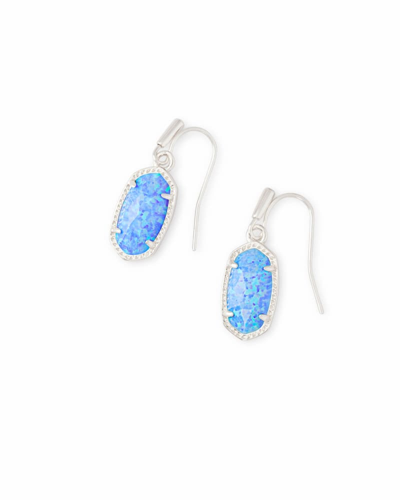 Lee Silver Drop Earrings in Ocean Kyocera Opal