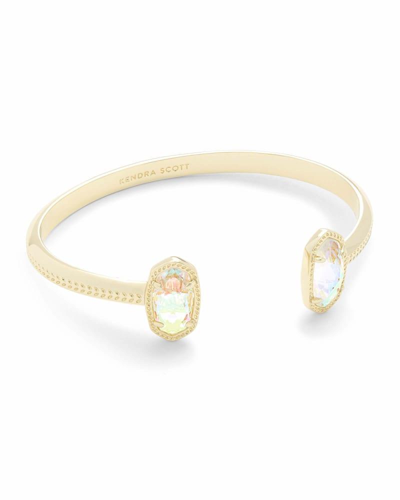Elton Gold Cuff Bracelet in Dichroic Glass