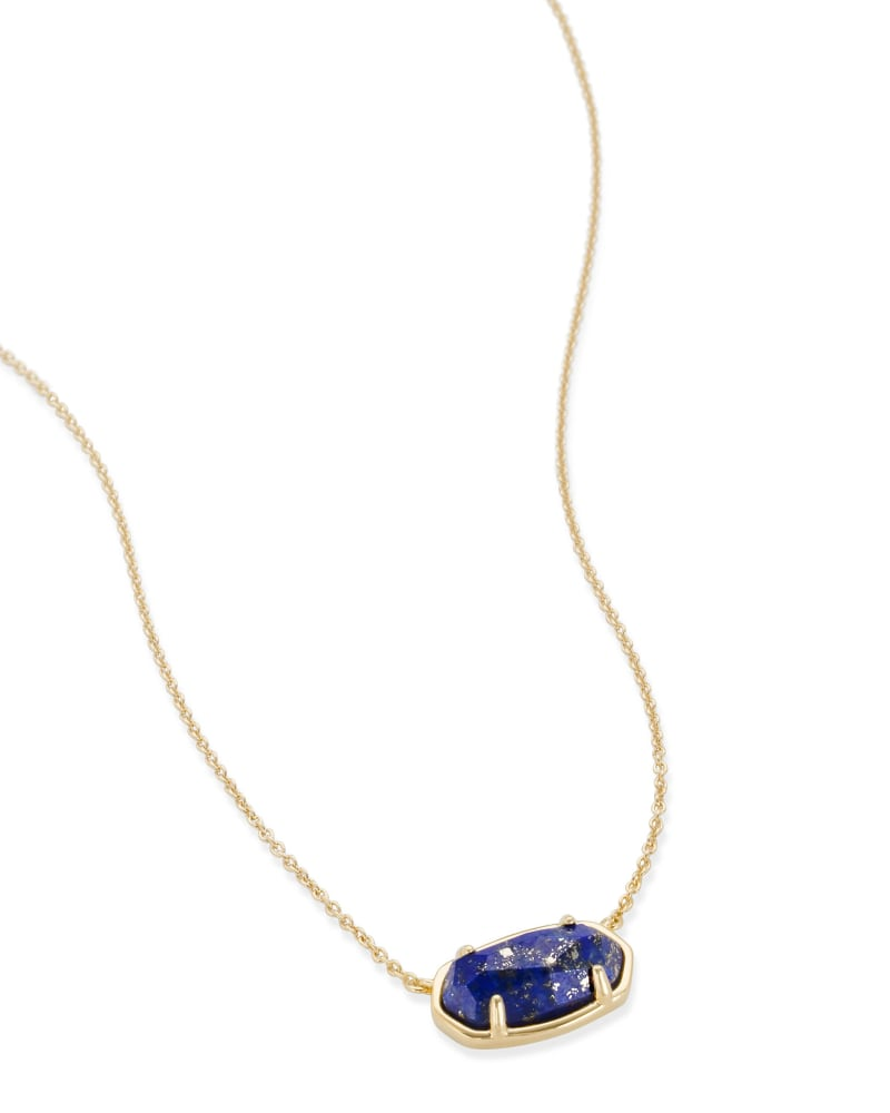Elisa 18k Gold Vermeil Pendant Necklace in Blue Lapis