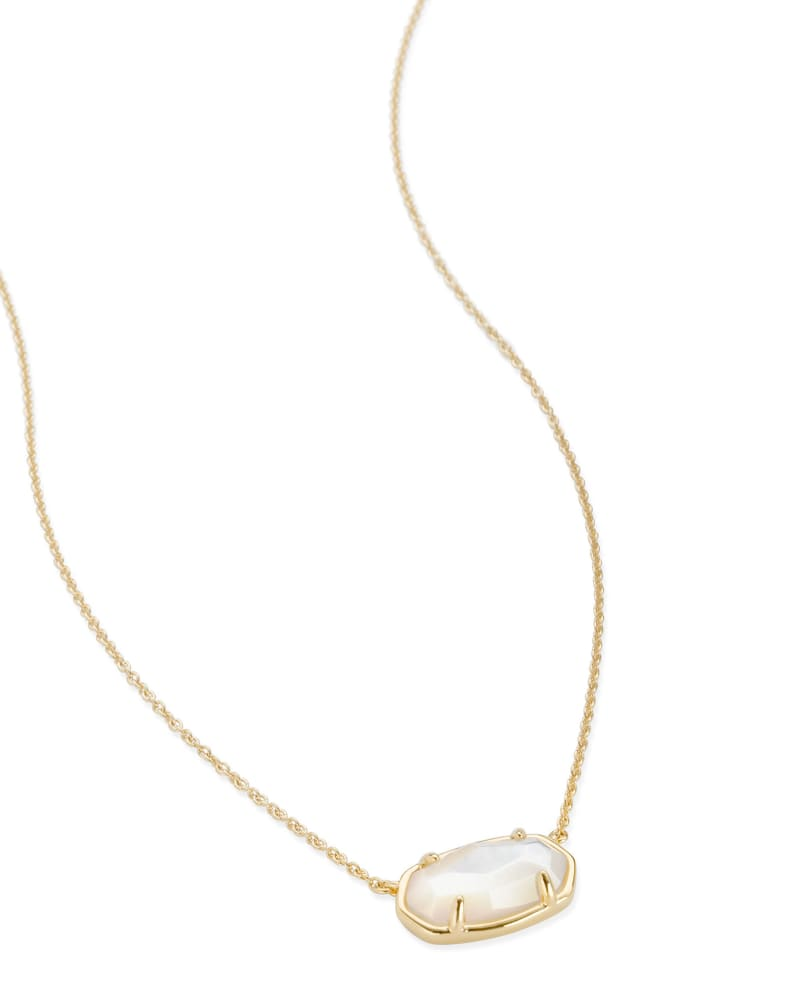 Elisa 18k Gold Vermeil Pendant Necklace in Ivory Mother-of-Pearl