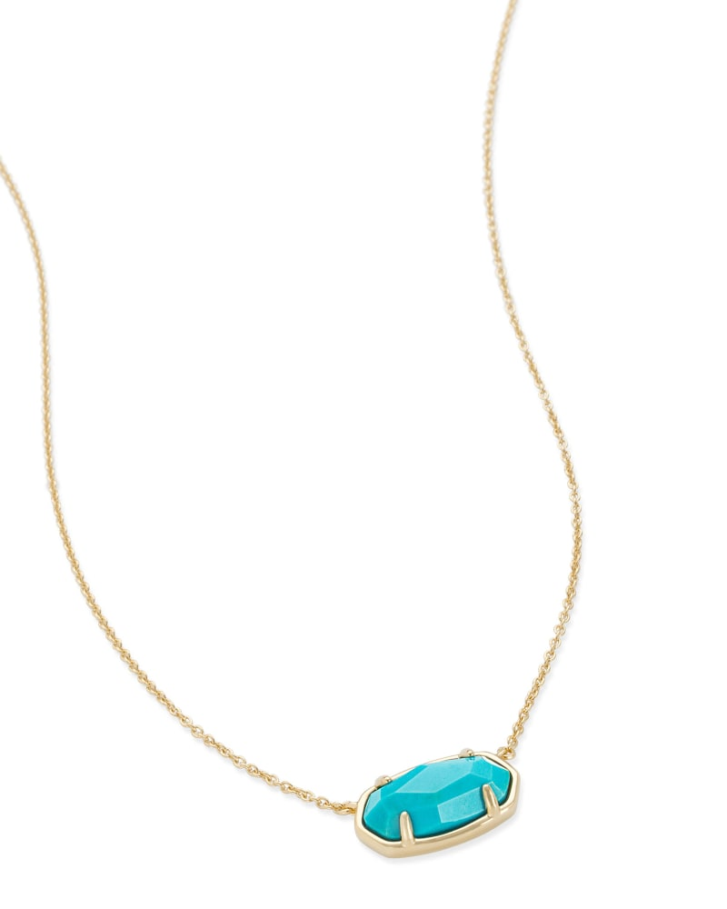 Elisa 18k Gold Vermeil Pendant Necklace in Turquoise