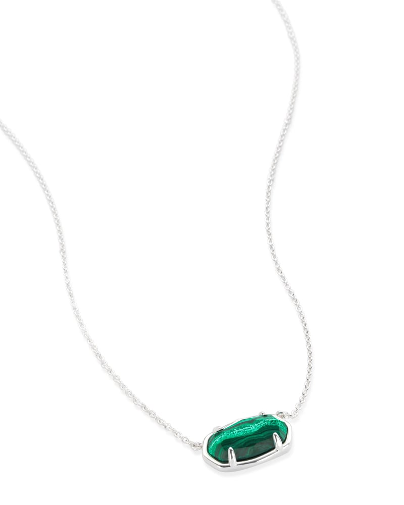 Elisa Sterling Silver Pendant Necklace in Malachite