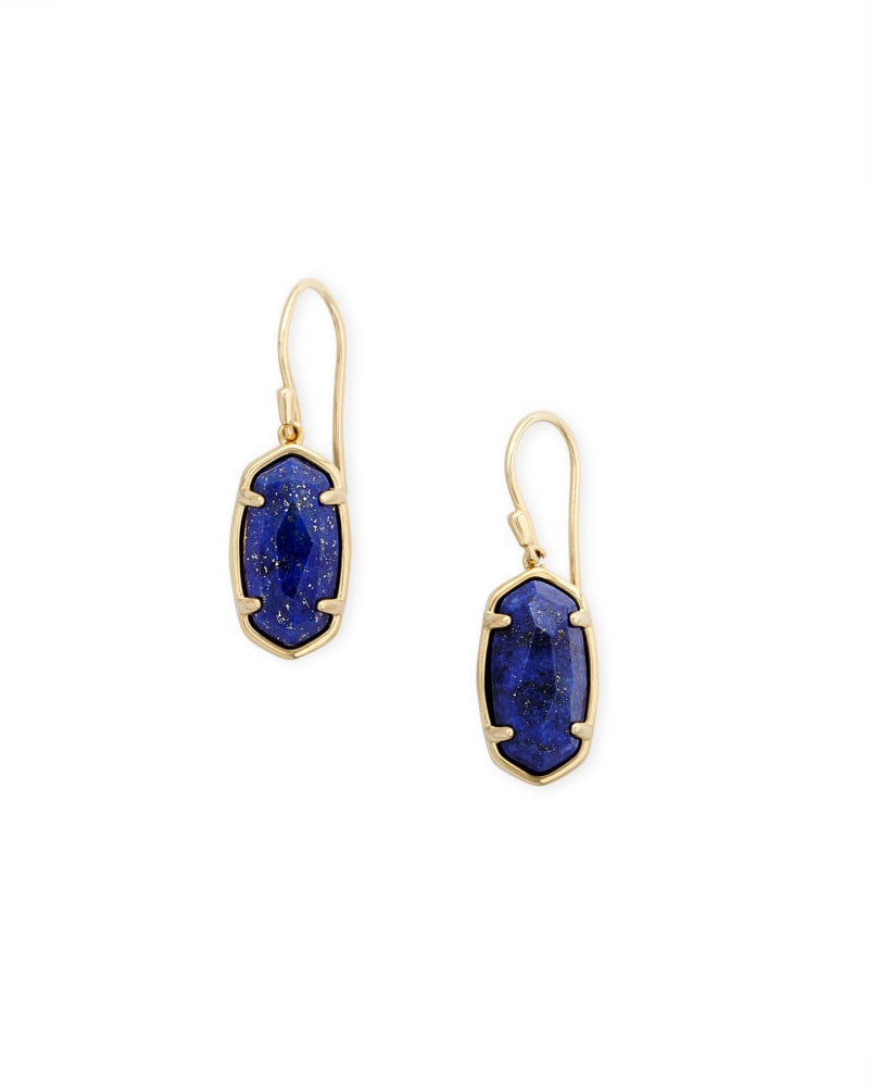 Lee 18k Gold Vermeil Drop Earrings in Blue Lapis
