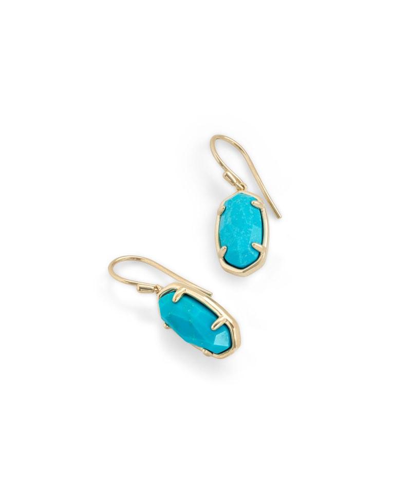 Lee 18k Gold Vermeil Drop Earrings in Turquoise
