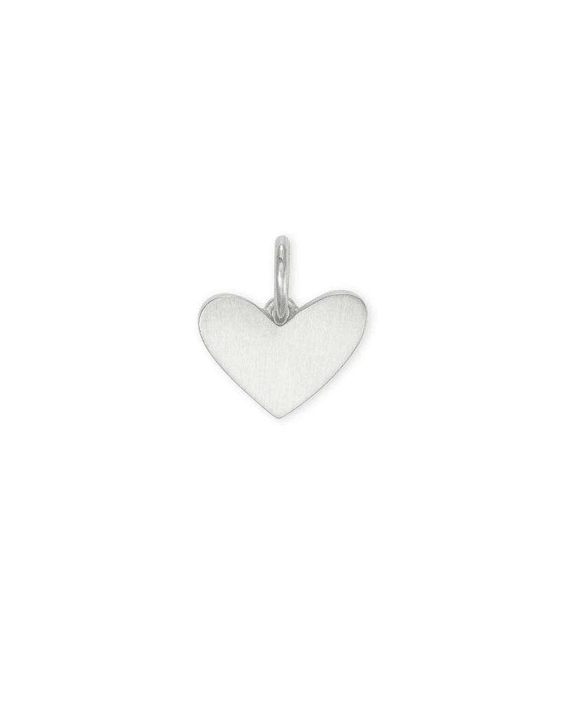 Ari Heart Charm in Sterling Silver