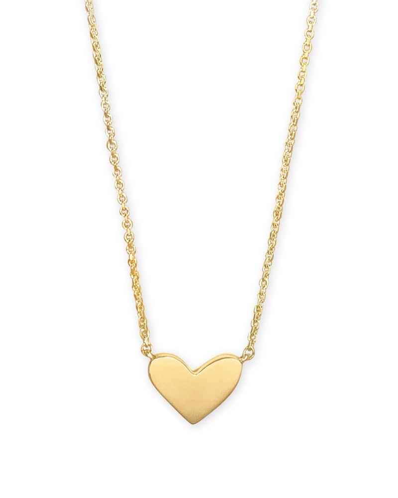 Ari Heart Pendant Necklace in 18k Gold Vermeil