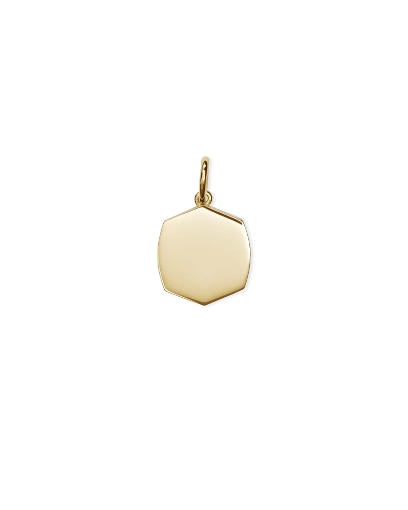 Davis Small Charm in 18k Gold Vermeil