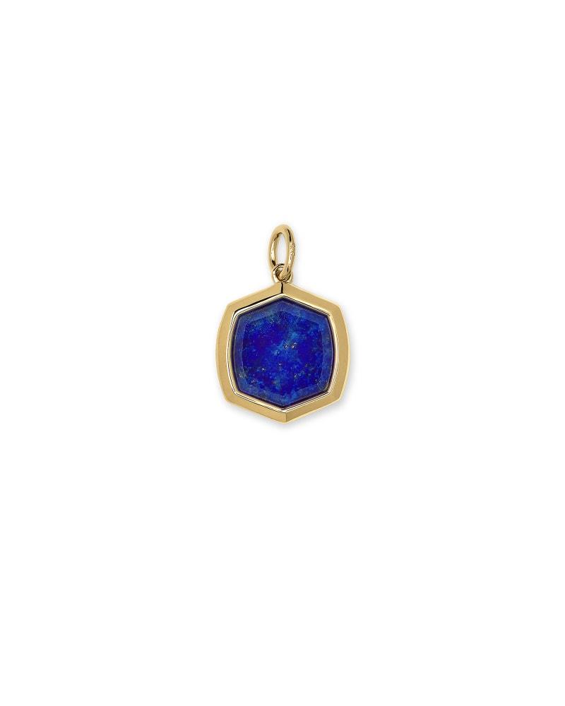 Davis 18k Gold Vermeil Charm in Blue Lapis