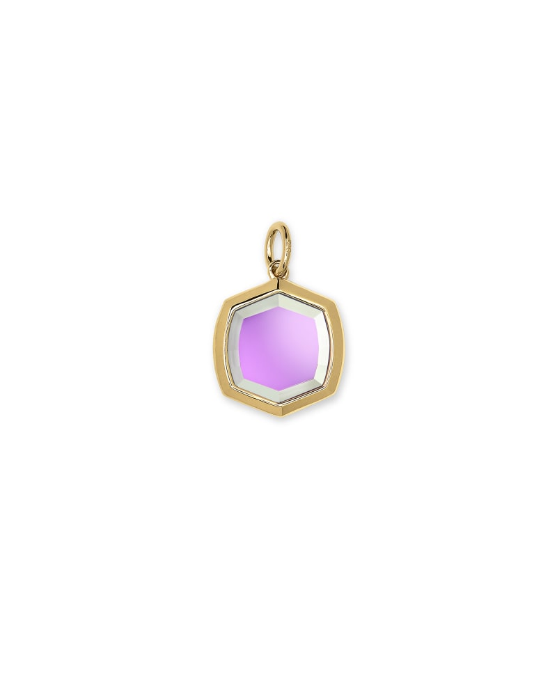 Davis 18k Gold Vermeil Charm in Dichroic Glass