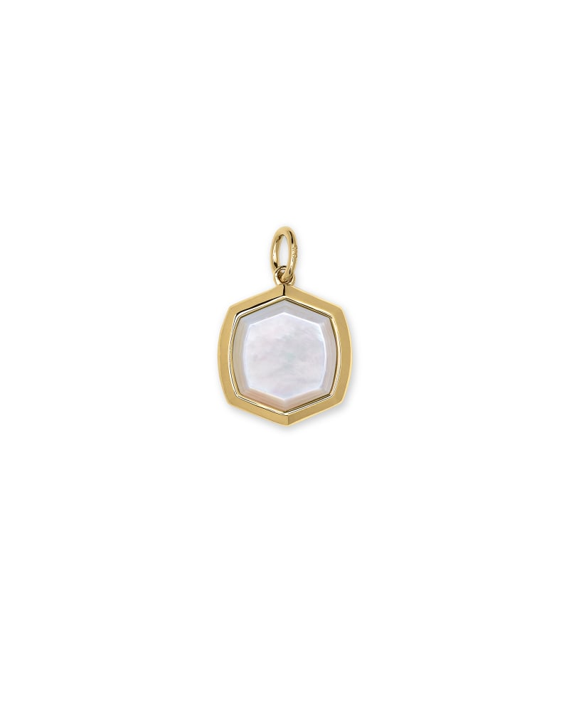 Davis 18k Gold Vermeil Charm in Ivory Mother-of-Pearl