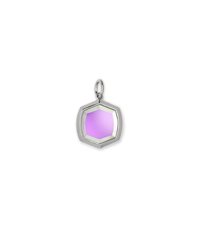 Davis Sterling Silver Charm in Dichroic Glass