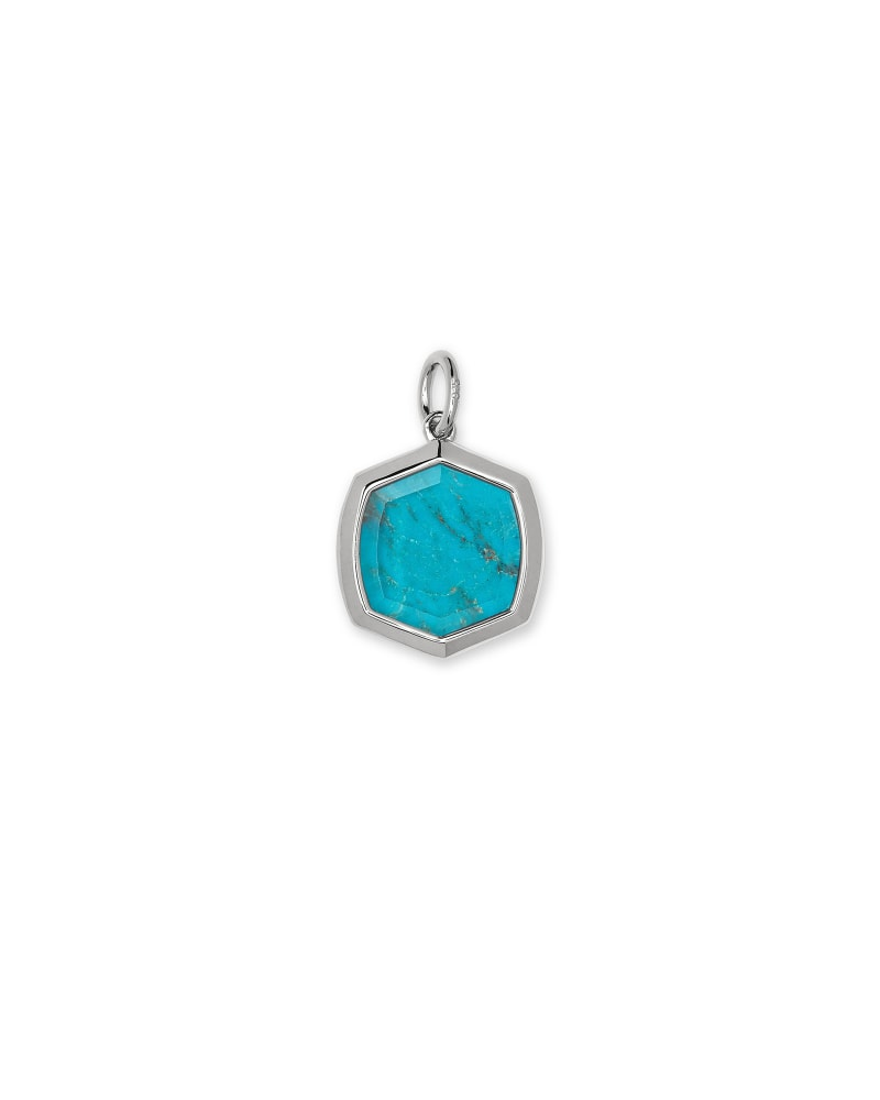 Davis Sterling Silver Charm in Turquoise