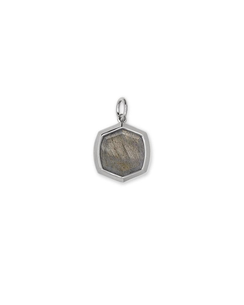 Davis Sterling Silver Charm in Gray Labradorite