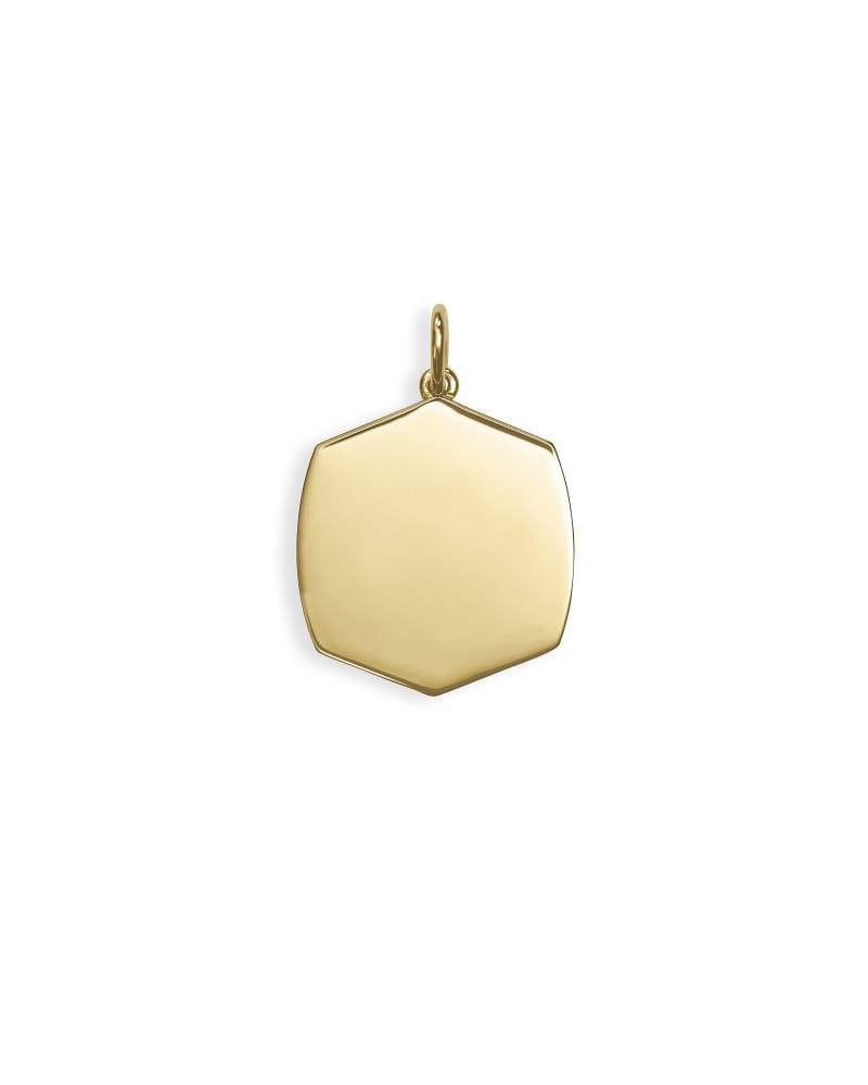 Davis Charm in 18k Gold Vermeil