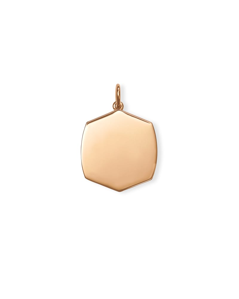 Davis Charm in 18k Rose Gold Vermeil