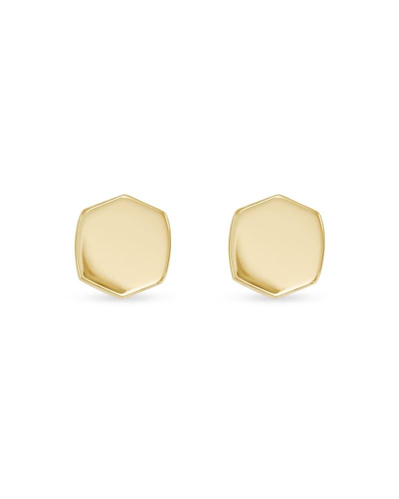 Davis Stud Earrings in 18k Gold Vermeil
