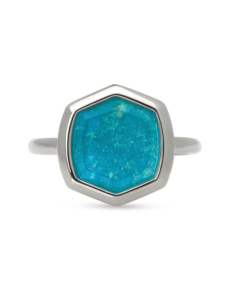 Davis Sterling Silver Cocktail Ring in Turquoise