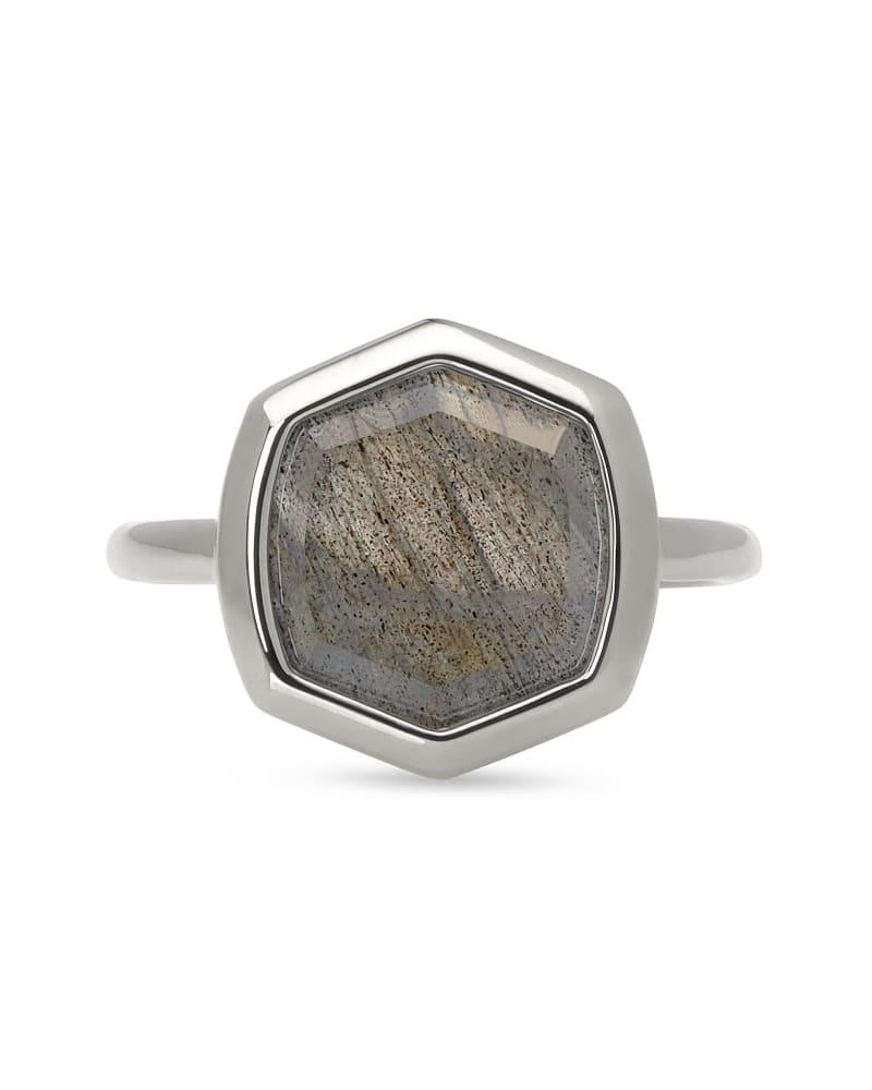 Davis Sterling Silver Cocktail Ring in Gray Labradorite