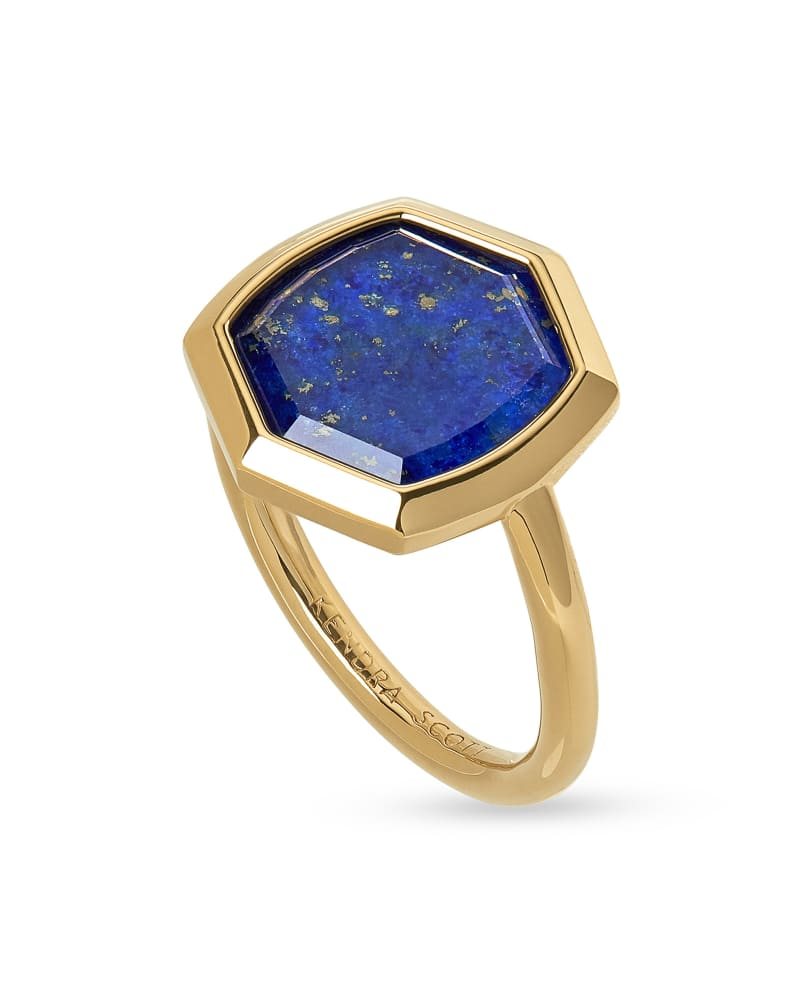 Davis 18k Gold Vermeil Cocktail Ring in Blue Lapis