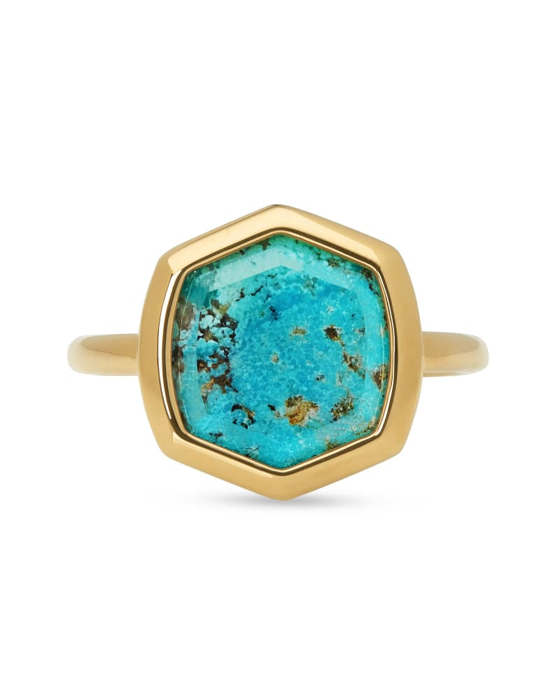 Davis 18k Gold Vermeil Cocktail Ring in Turquoise