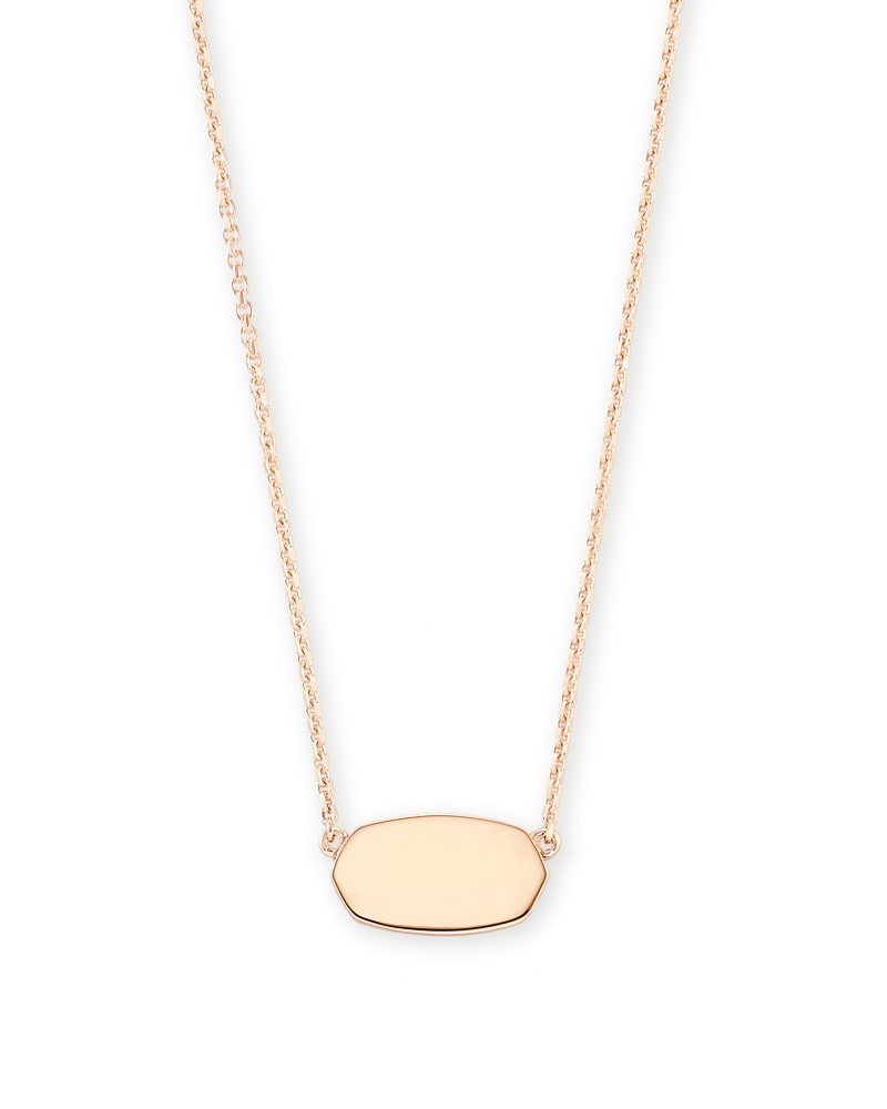 Elisa Pendant Necklace in 18k Rose Gold Vermeil