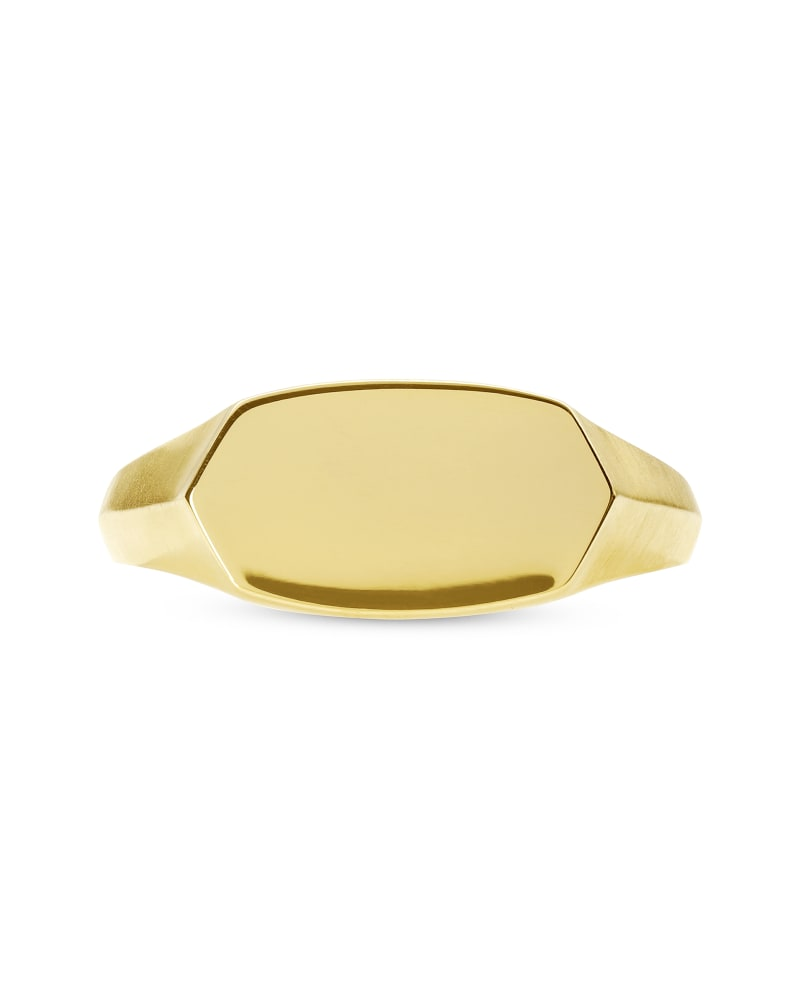 Elisa Signet Ring in 18k Gold Vermeil