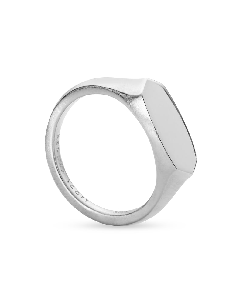 Elisa Signet Ring in Sterling Silver