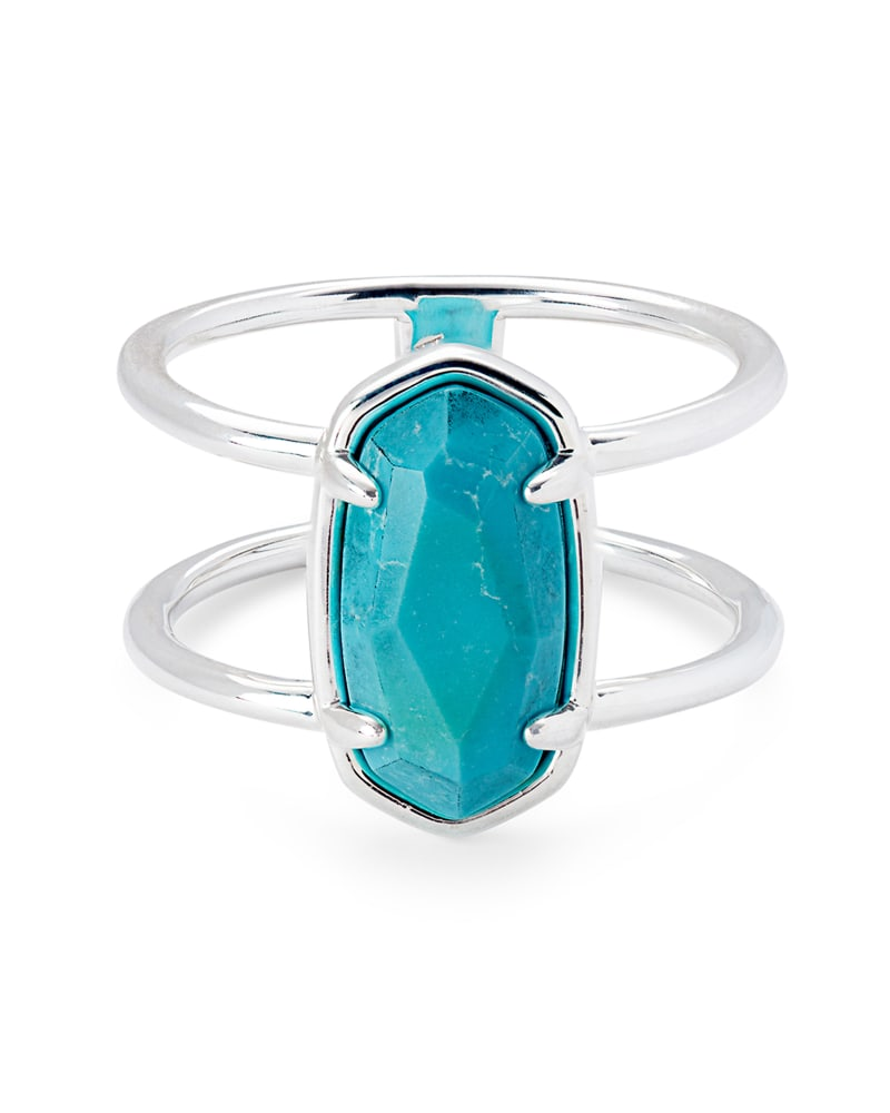 Elyse Sterling Silver Double Band Ring in Turquoise