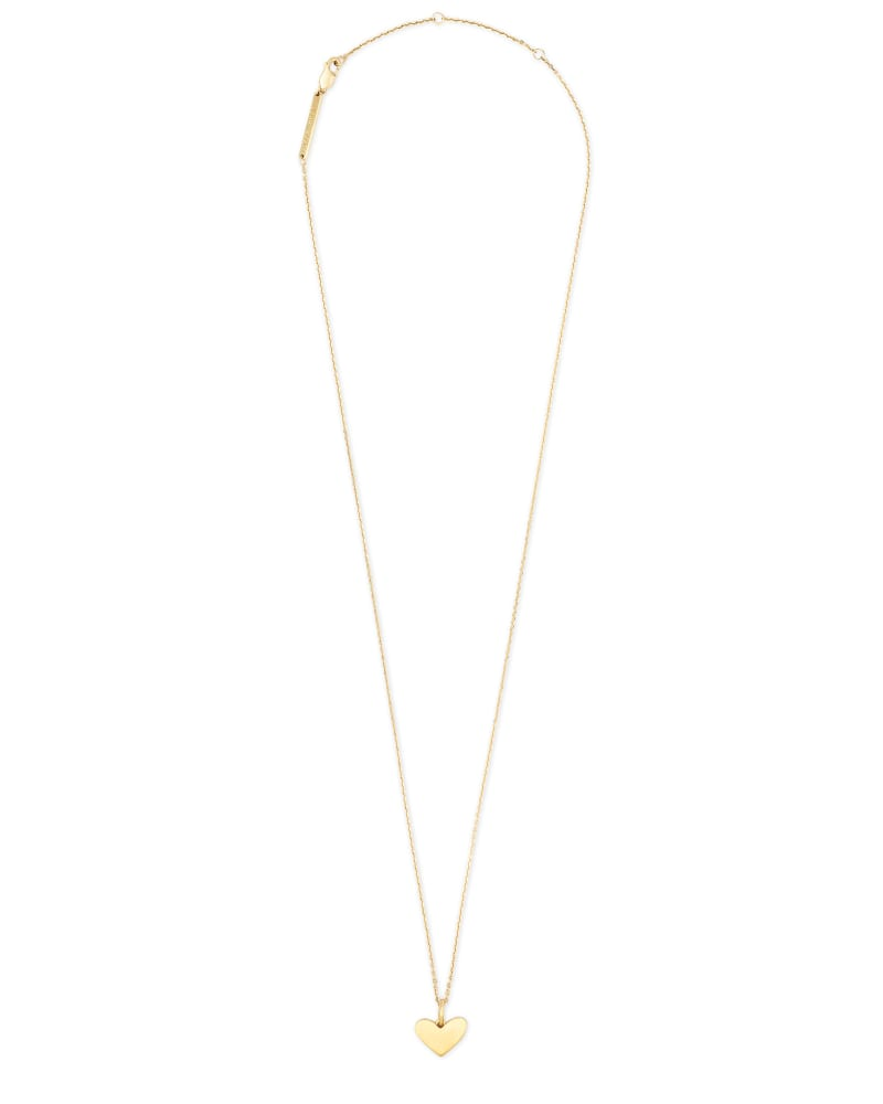 Ari Heart Charm Necklace In 18k Gold Vermeil