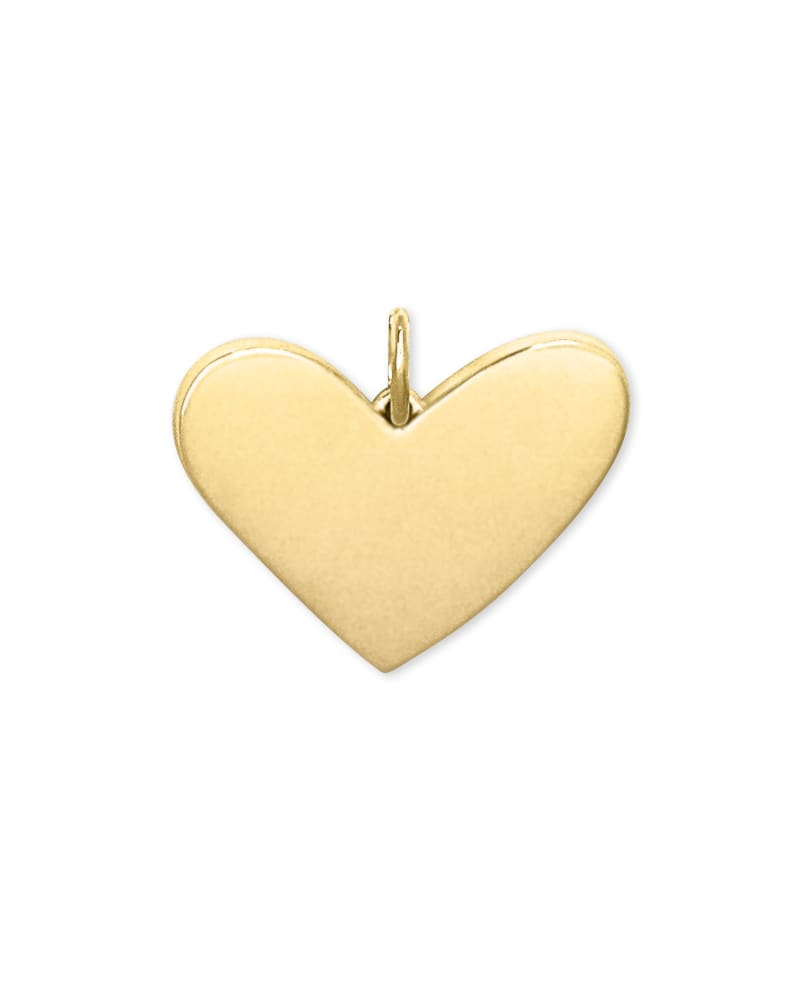 Ari Large Heart Charm in 18k Gold Vermeil