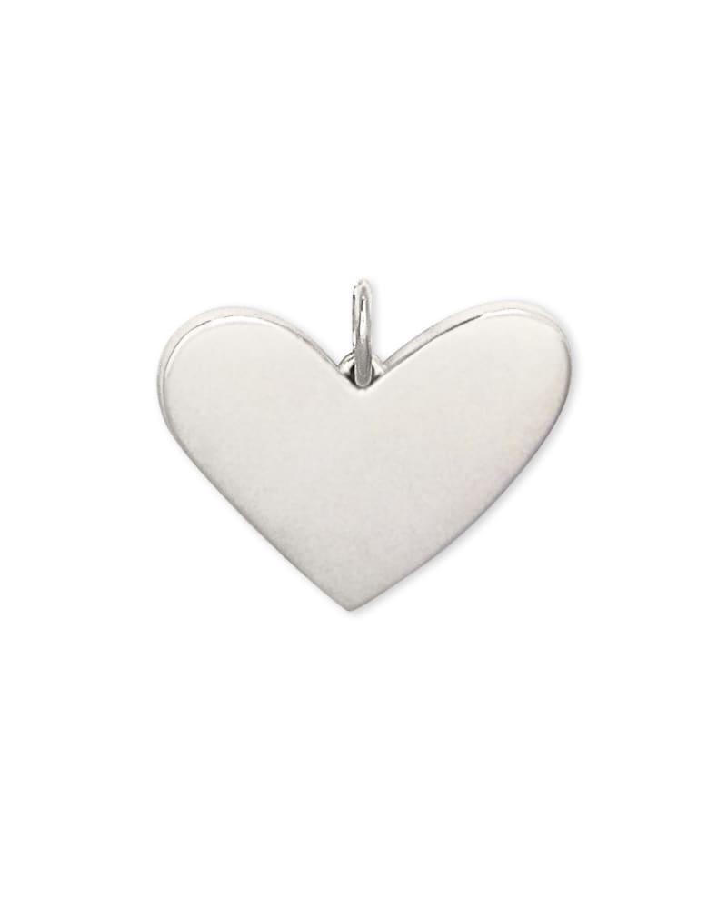 Ari Large Heart Charm in Sterling Silver