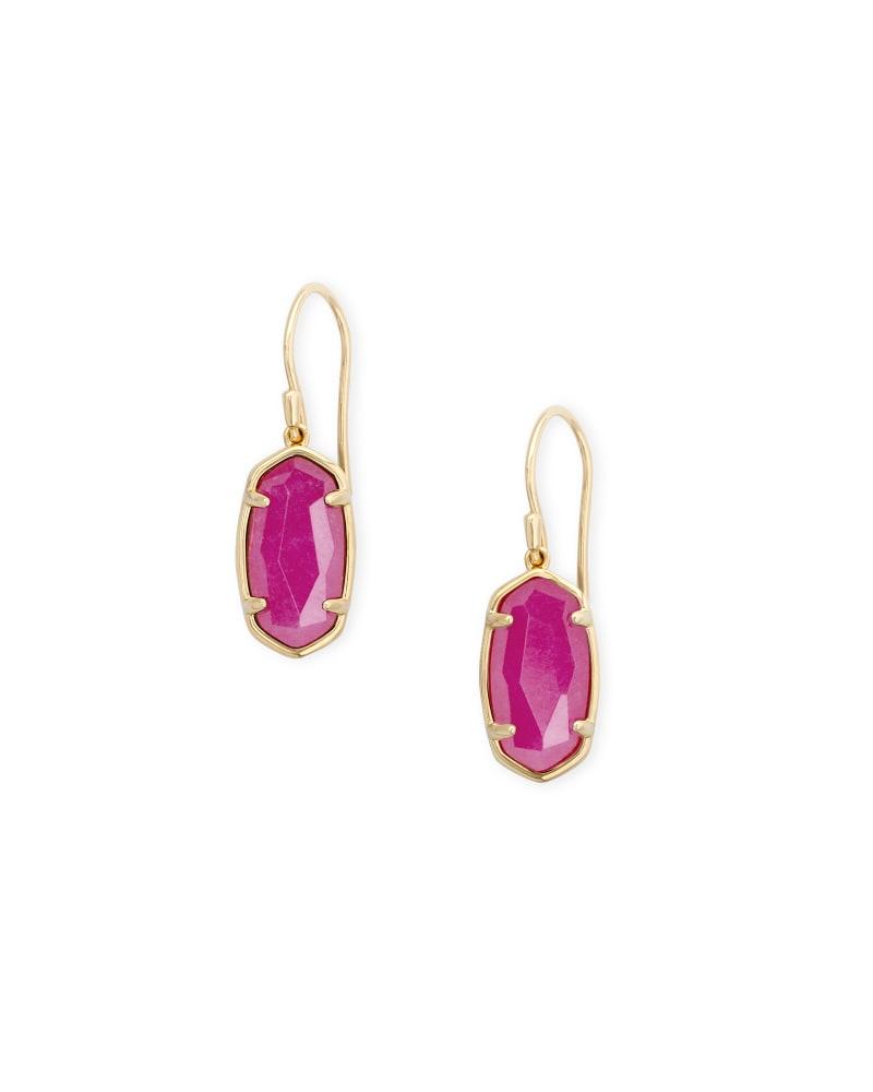 Lee 18k Gold Vermeil Drop Earrings in Pink Quartzite