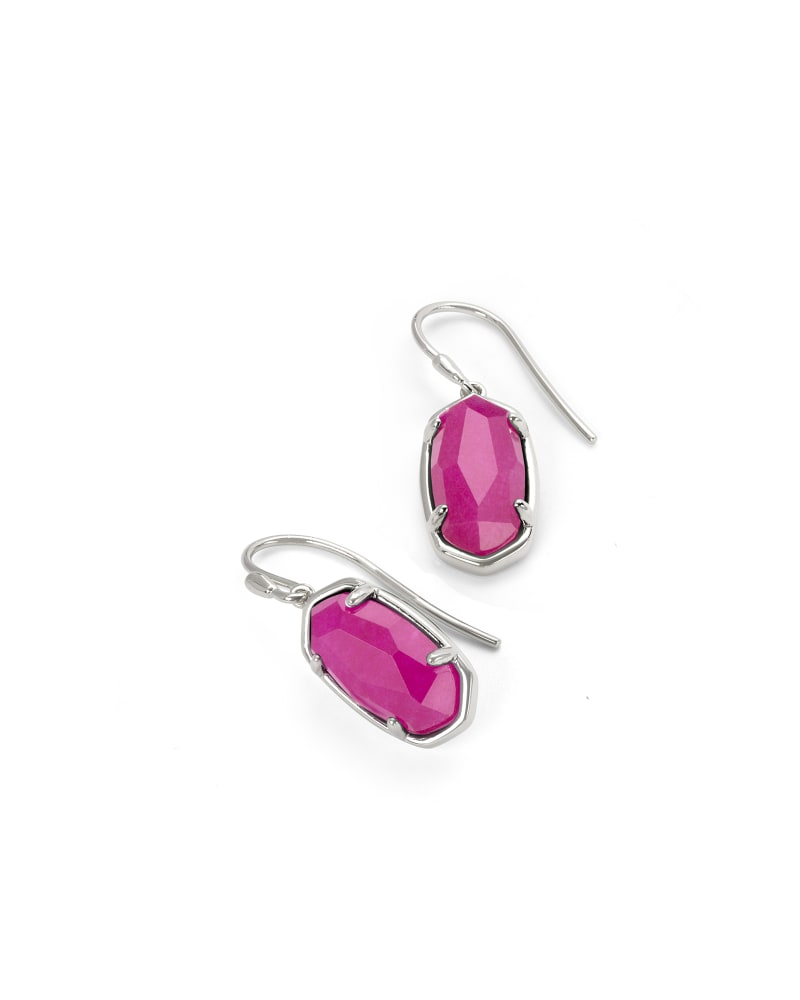 Lee Sterling Silver Drop Earrings in Pink Quartzite