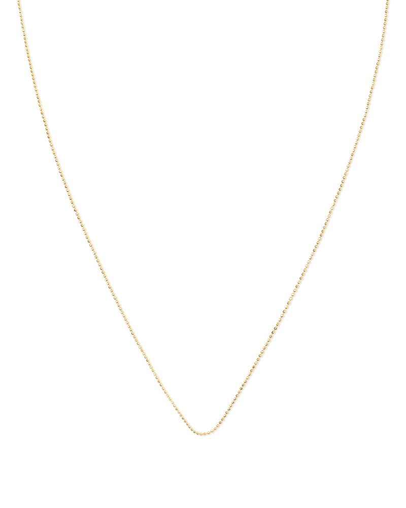 22 Inch Ball Chain Necklace in 18k Gold Vermeil