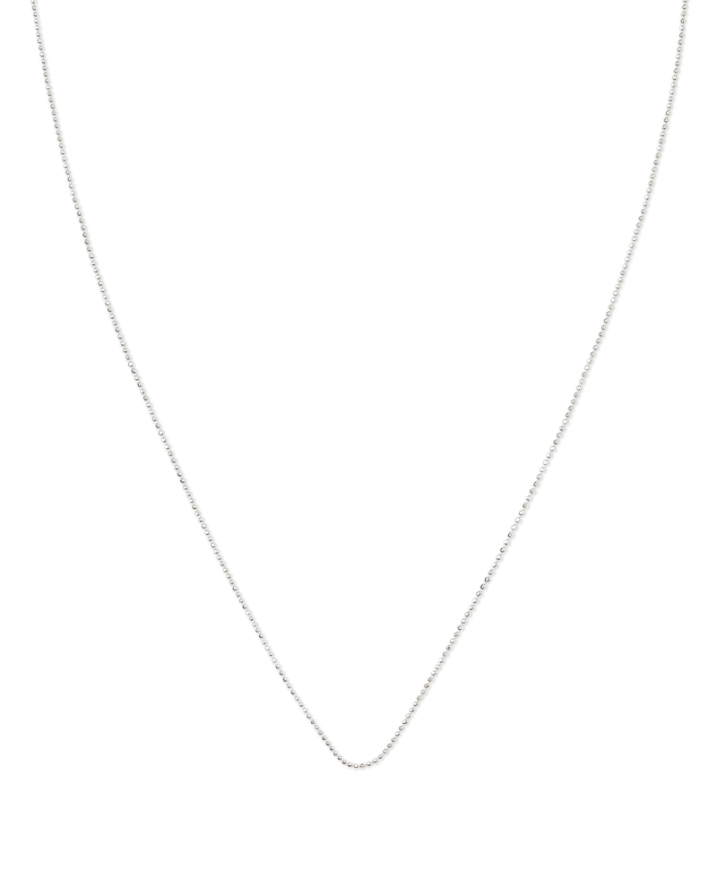 22 Inch Ball Chain Necklace in Sterling Silver