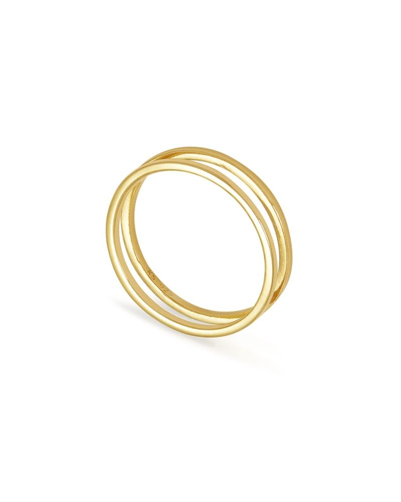 Bennett Double Ring in 18k Gold Vermeil