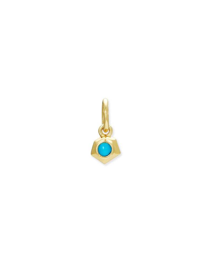 Blaire 18k Gold Vermeil Charm in Turquoise