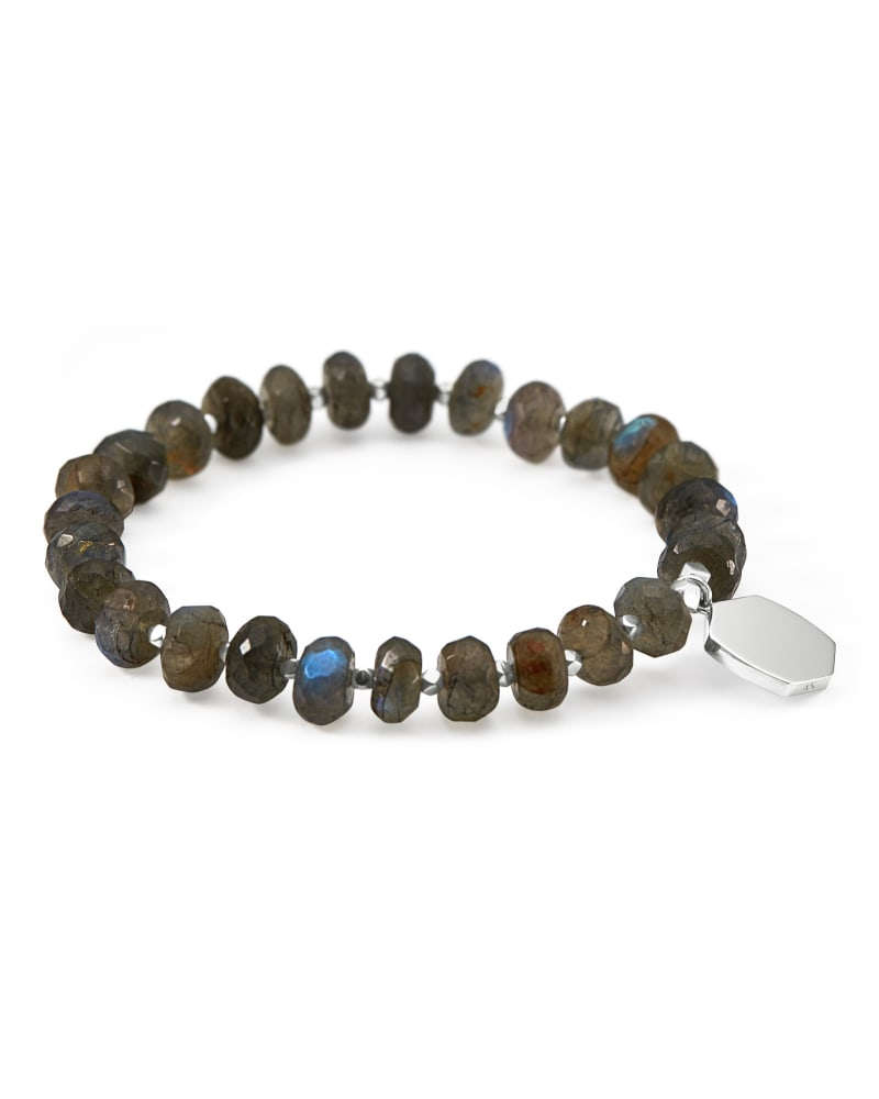 Davis Sterling Silver Beaded Bracelet in Gray Labradorite
