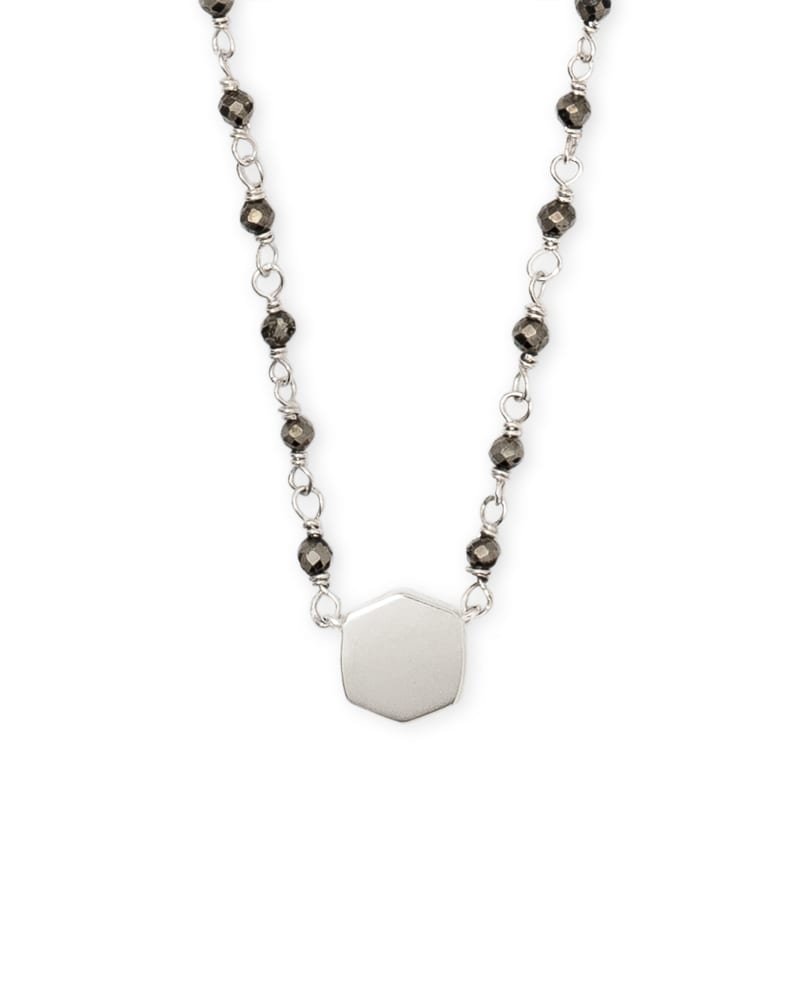 Davis Sterling Silver Short Pendant Necklace in Pyrite