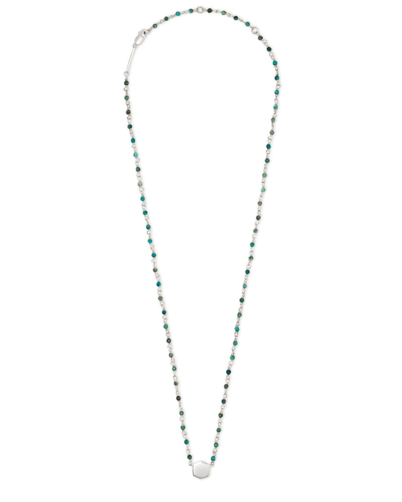 Davis Sterling Silver Beaded Pendant Necklace in Turquoise