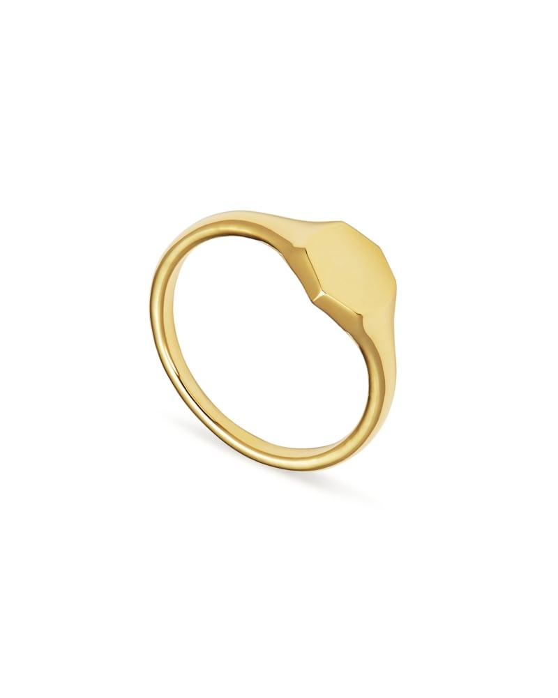 Davis Signet Ring in 18k Gold Vermeil