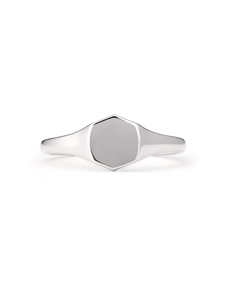 Davis Signet Ring in Sterling Silver