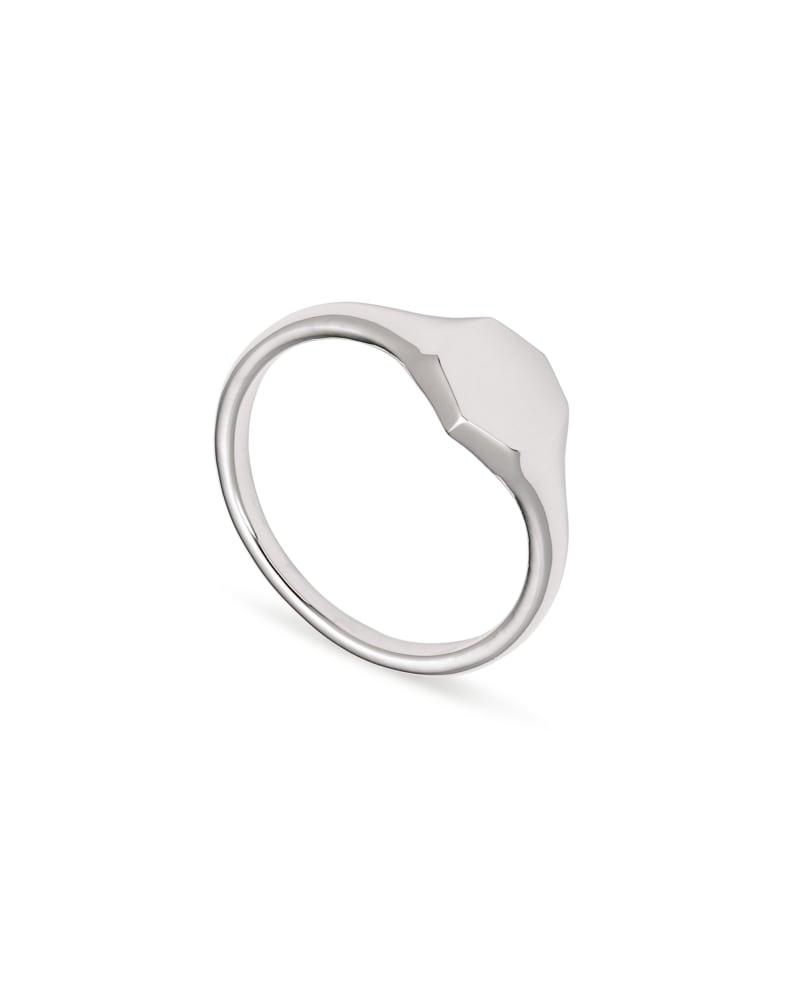 Davis Signet Ring in Sterling Silver