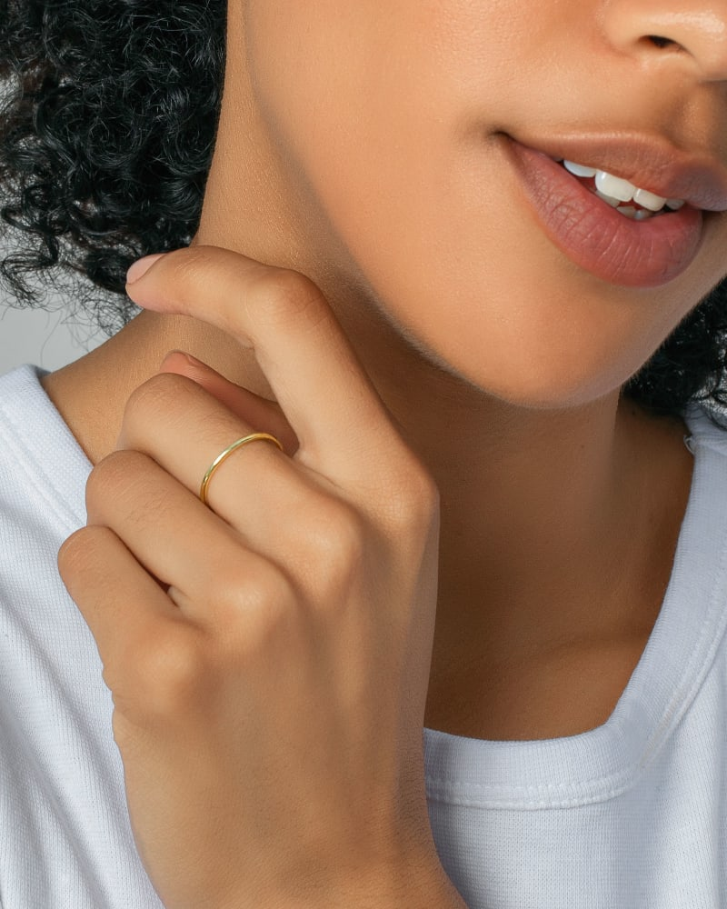 Larissa Band Ring in Rose 18k Gold Vermeil