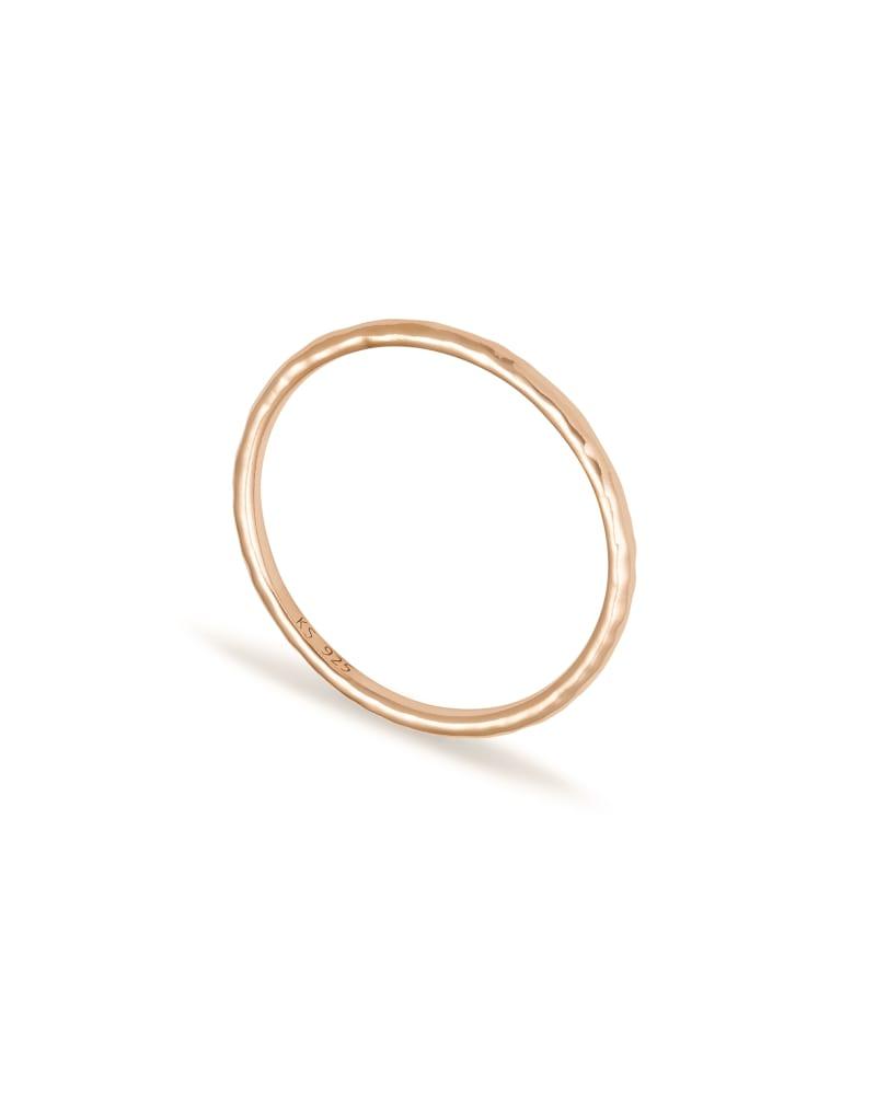 Larissa Band Ring in Rose 18k Gold Vermeil