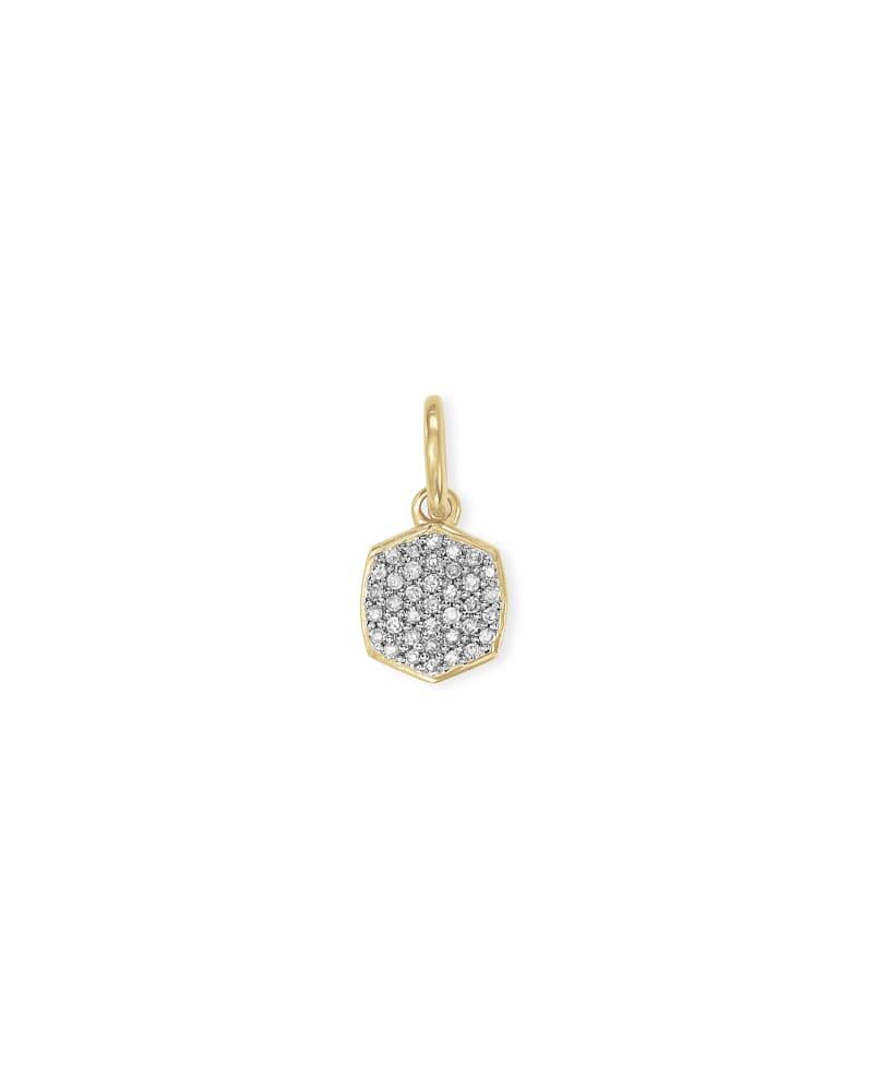 Davis 18k Gold Vermeil Charm in White Diamond