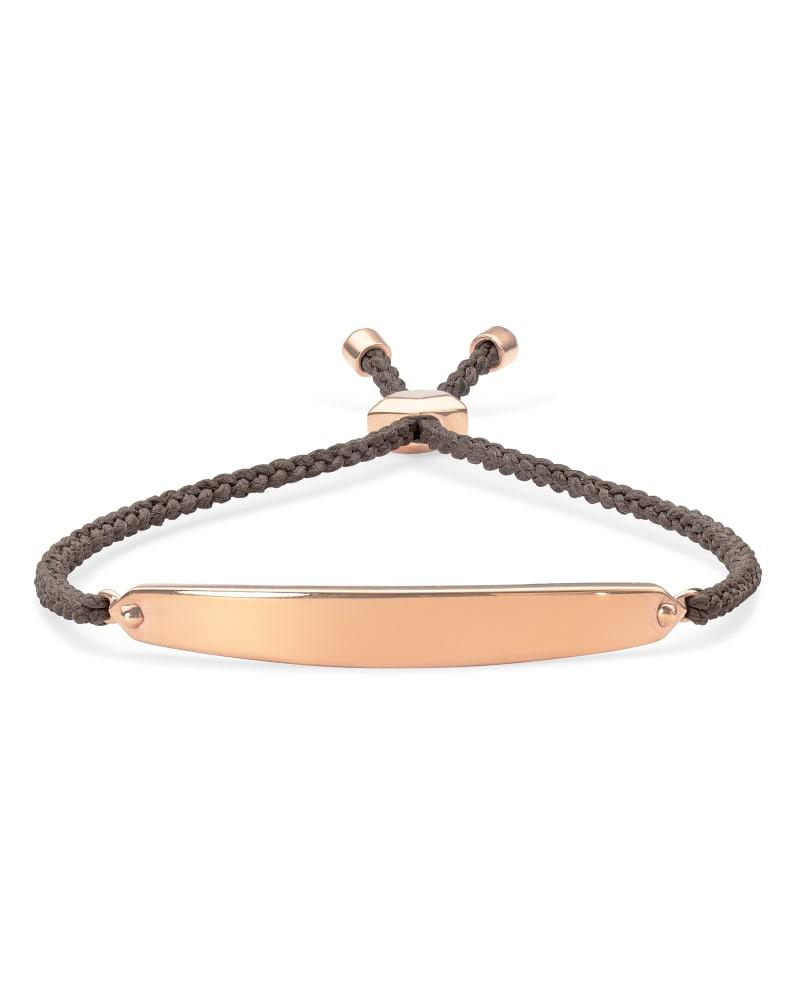 Mattie Bar Cord Bracelet in 18k Rose Gold Vermeil